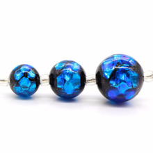 wholesale luminous Japanese glass beads blue