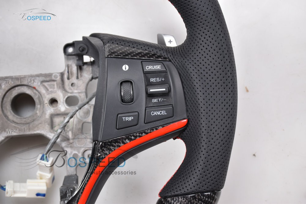 2017 most popularCarbon Fiber racing car steering wheel for Honda Spirior