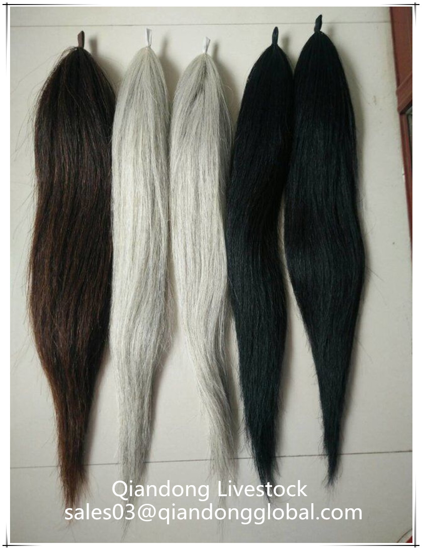 100 Handmade Genuine Horse Tail Hair Extensions False Horse Tail