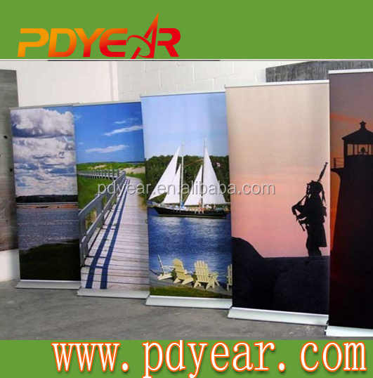 Mini advertising display roll up banner