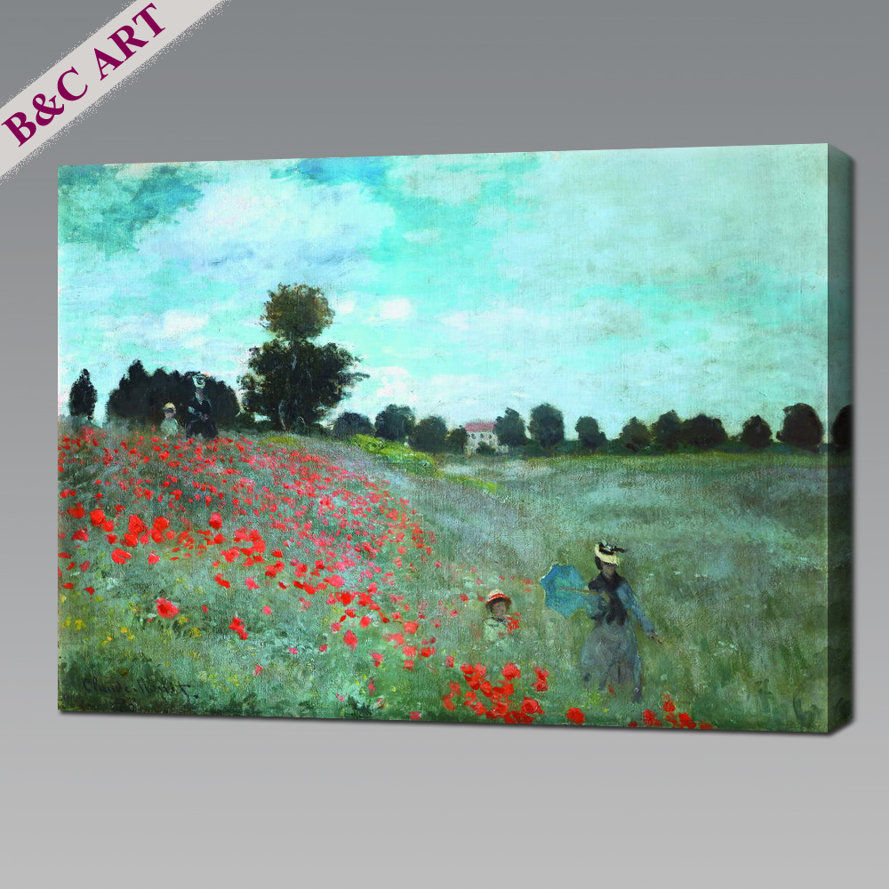Natural Scenery Poppies at Argenteuil Old Master Reproduction Oil Painting