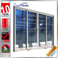 Australia AS2047 standard commercial system double glass automatic sliding door