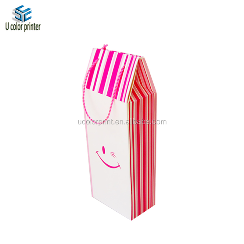 Custom cheap price take away food box with handle for sandwich