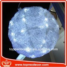 Brightly color plastic solar ball tree light