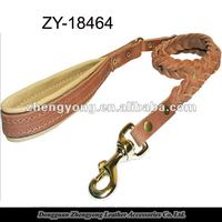 2013 new Braided Leather dog leash