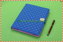 Fashion grid color Pu Leather Stand Case For ipad 2/3/4/mini