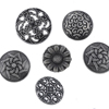 // wholesale custom bulk no holes abs plastic button // plated plastic buttons for coat // BK-BUT479