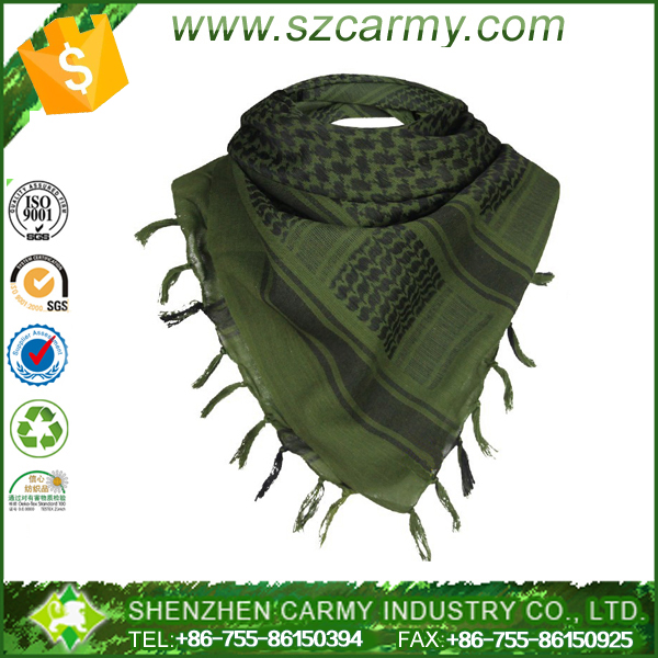 Men Winter Military Windproof Scarf Muslim Hijab Shemagh Tactical Shawl Arabic Keffiyeh Scarf 100% Cotton Military Scarf