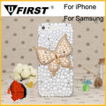 Handmade clear crystal bling bling rhinestone case for iphone 6
