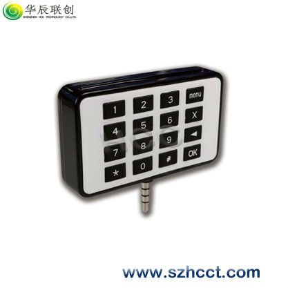 New-developed Audio Jack Mobile Smart Card Reader with Pinpad-SS506P, point of sale terminal