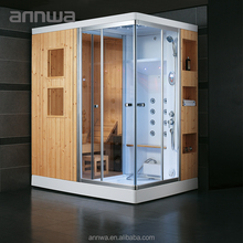 wood steam sauna room combination with competitive price