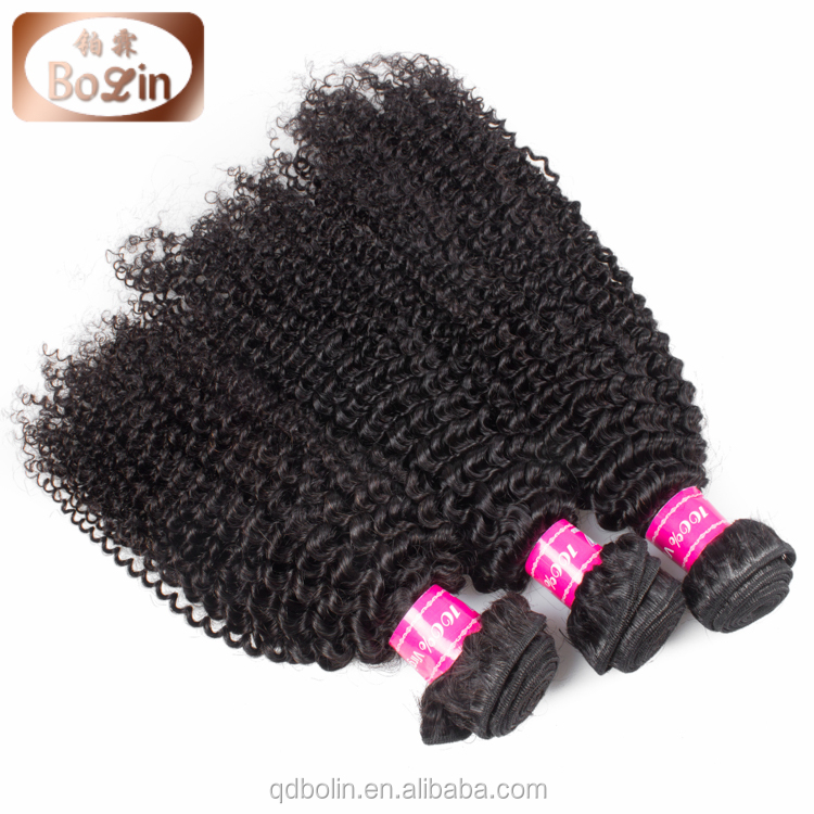 Chinese expression hair extensions double drawn weft tight and neat shedding free natural luster durable kinky curl hair weaving