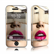 Artistic cool hair cut protective flashing anti radiation 3d side sticker for iphone 4s