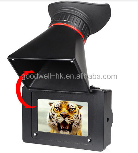 "3.5"" digital camera Electronic viewfinder with 3G HD SDI HDMI input F970 battery plate"