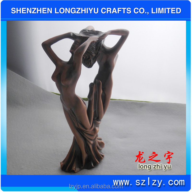 Antique Copper Sexy Nude Women Figurine Dancing Figurine For Wholesale