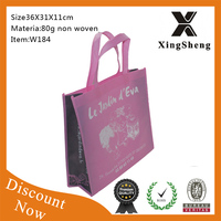 Cheapest price high quality fashion non-woven shopping bag non-woven needle punched bag bag foldable