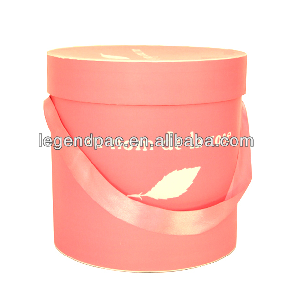 high quality customized round gift box with seperated lid and base/ round gift rigid box/hat paper packaging box