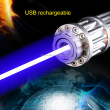 Military Powerful Laser Pointer Blue 10 Mile High Powered Burning Laser USB Rechargeable Built in Battery 1200mw Laser pen Box