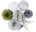 Wholesale DIY party paper decoration set paper pom pom and paper lantern