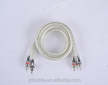 Four white transparent RCA Cable for car audio sound system from JLD Audio(RCA-06)