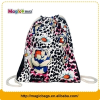 Custom printed cotton dust bag drawstring bags for shoes/football