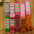 Wholesale cotton Snagging Resistance baby leg warmers fashion ruffled chevron baby leg warmers