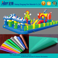 Cheap Green PVC Coated Tarpaulin For Inflatable Castle Used