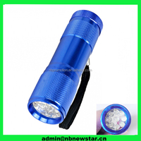 Top quality Factory supplier led mini flashlight,9 led flashlight,led light flashlight torch