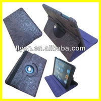 Manufacturer Wholesale Stand Magnetic Rotating for iPad mini 360 Case Leather Smart Cover 2013 New