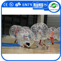 Hot sale Dia1.2m/1.5m/1.7m human bubble ball,human sized soccer bubble ball,inflatable hamster ball for kids