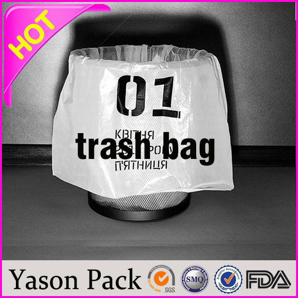 Yason decorative plastic bag trash bags with drawstring yellow medical waste bag