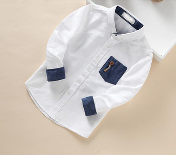 Boys clothing autumn winter cotton fancy oxford button down woven latest boy kids shirt
