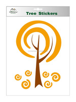 Eco-friendly self adhesive wall decal lollipop tree sticker