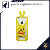 smart 3d cartoon bumper case silicone animal funky mobile phone case