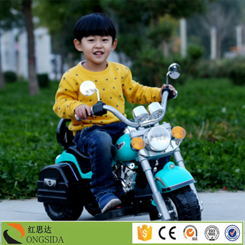Xingtai Hongsida Brand Kids Electric Ride On Motorcycle Three Wheel Toy Battery Motorbike for Kids
