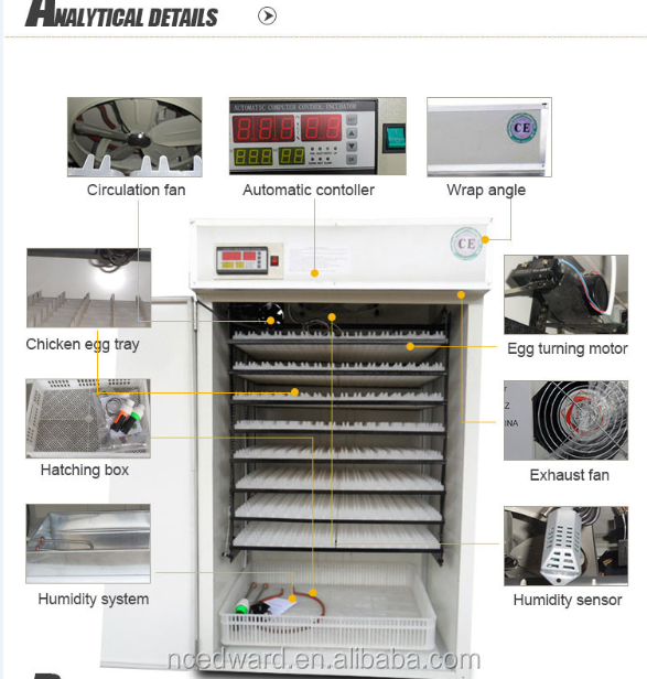 HHD Brand Automatic Egg Incubator for Hatching Machine Holding 2640 Eggs