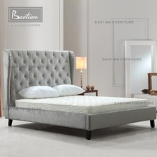 Antique Bed Frame with Head board Queen Size Bed Flat