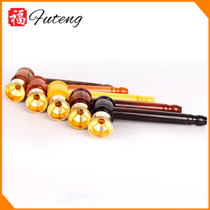 Yiwu Futeng Wholesale High Quality Small Wooden Hand Metal Tobacco Smoking Pipes Parts