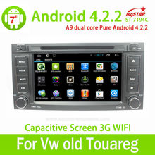 With Dual Core Cpu 1G RAM Capacitive Screen 3G internal Wifi for Volkswagen Touareg 2002-2010 Android 4.2.2 auto radio with gps