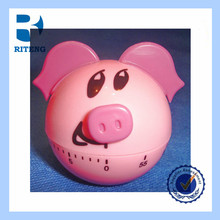 cute pig shaped custom kitchen timer