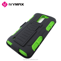 IVYMAX Hot Selling 2 in 1 Tough Rugged Armor Kickstand Holster Combo Hybrid Mobile Phone Case for LG K7