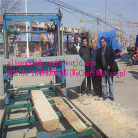 Top Grade Portable lumber elcetric bandsaw Horizontal Sawmill machine