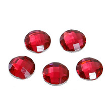 Wholesale Round Fuchsia Faceted 6mm Resin Dome Seals Cabochon