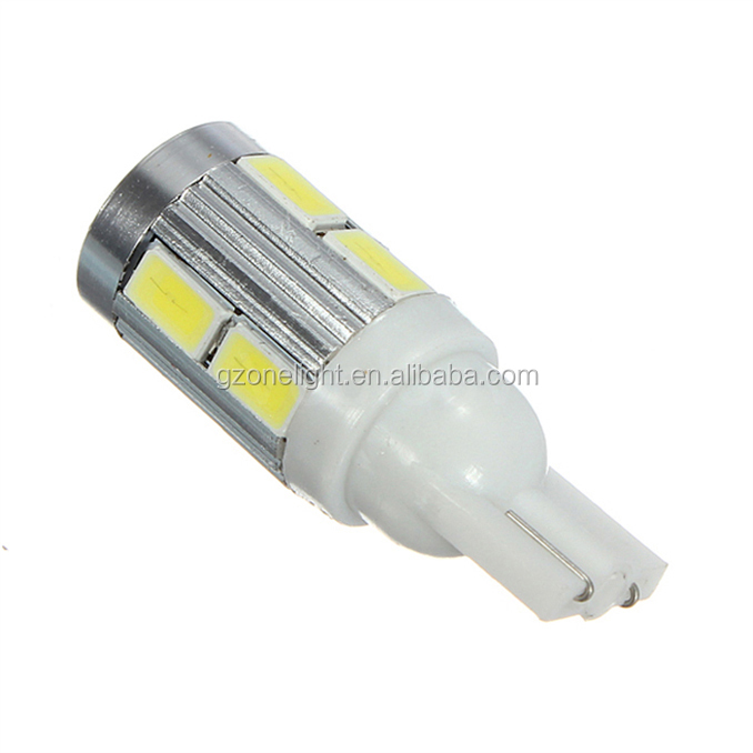 w5w 5630 10 smd led 194 168 Wedge Light Bulb Turn Signal Light Bulb warm white White Blue Red Green Pink Yellow