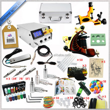 Professional free shipping tattoo ink kit with 2 gun rotary tattoo machine 14 color ink