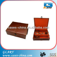 luxury leather wine box/wine case with accessories