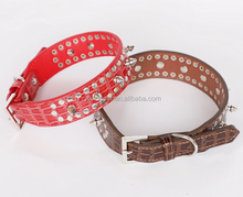 New leather wholesale dog collar