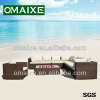 2013 hot-sell outdoor raw rattan furniture with aluminium frame