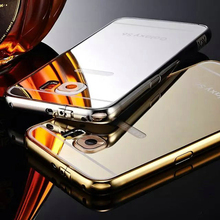 Luxury aluminum metal bumper case for samsung galaxy s6 / s6 edge with hard back cover