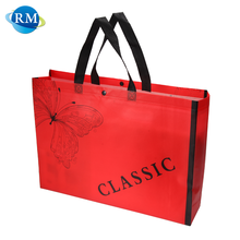 Rongmei Hight Quality Products Red Classics Non Woven Bag With Fastener